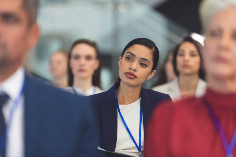 business women learning